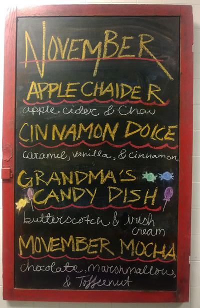 November Drink Specials at Mocha Monkey