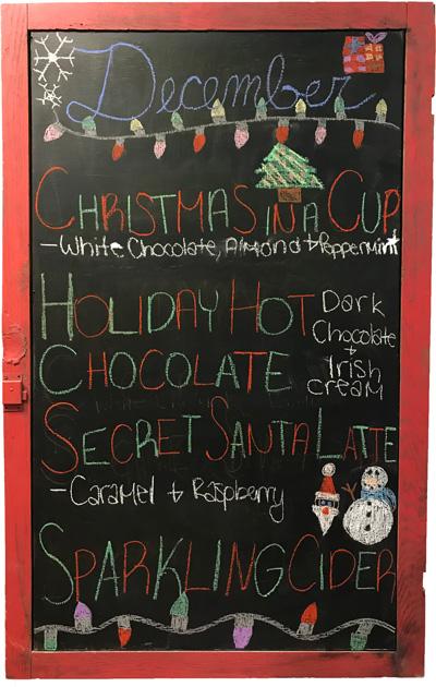 December Drink Specials at Mocha Monkey